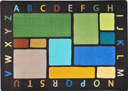 Building Blocks ABC Rug - Earthtone - JC1799ETXX - Joy Carpets