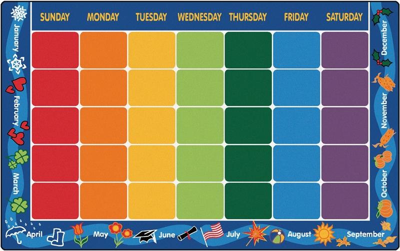 Calendar Rug Cfk11xx Carpets For Kids