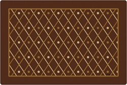 Classic Diamonds Rug - Rectangle - 4' x 6' - CFK12724 - Carpets for Kids