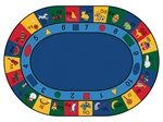 "Blocks of Fun Rug - Oval - 8'3"" x 11'8"" - CFK1308 - Carpets for Kids"