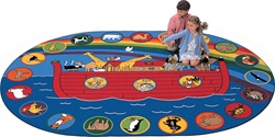 "Circletime Noah Rug - Oval - 6'9"" x 9'5"" - CFK1395 - Carpets for Kids"