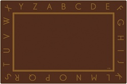 Just the Alphabet Brown Rug - CFK217XX - Carpets for Kids