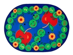 "ABC Caterpillar Rug - Oval - 6'9"" x 9'5"" - CFK2295 - Carpets for Kids"