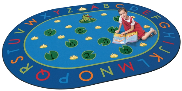 Hip Hop to the Top Rug - Round - 9' - CFK2409 - Carpets for Kids