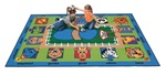 Zippity Zoo Time Rug - Rectangle - 4'5