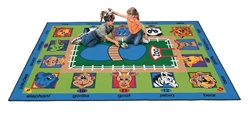"Zippity Zoo Time Rug - Rectangle - 4'5"" x 5'10"" - CFK2501 - Carpets for Kids"