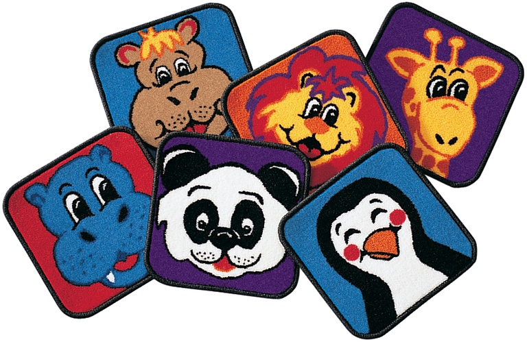 Zippity Zoo Animal Squares Square Set Of 14 Cfk2514