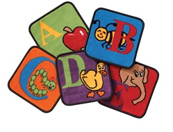 Reading by the Book Kit - Square - Set of 26 - CFK2626 - Carpets for Kids