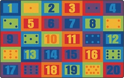 "Learn to Count Seating Rug - Rectangle - 7'6"" x 12' - CFK2912 - Carpets for Kids"