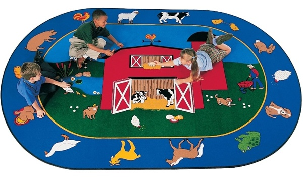 Barnyard Rug Oval 8 3 Quot X 11 8 Quot Cfk2916 Carpets For Kids