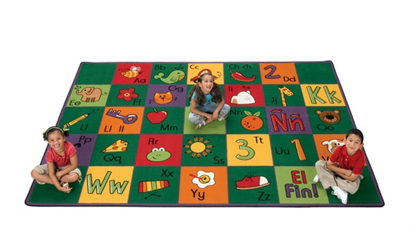 Spanish Alphabet Blocks Rug Rectangle 3 10 Quot X 5 5