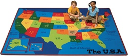Travelin the USA Rug - CFK34XX - Carpets for Kids