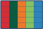 Colorful Rows Seating Rug - Rectangle - 6' x 9' - CFK4025 - Carpets for Kids