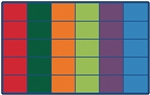 Colorful Rows Seating Rug - CFK40XX - Carpets for Kids