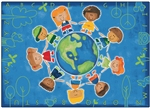 "Give the Planet a Hug Rug - Rectangle - 7'8"" x 10'10"" - CFK4417 - Carpets for Kids"