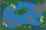 Tranquil Pond Rug - Rectangle - 4' x 6' - CFK4806 - Carpets for Kids