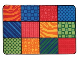 Patterns at Play Rug - Rectangle - 4' x 6' - CFK4819 - Carpets for Kids