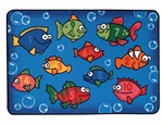 Something Fishy Rug - Rectangle - 4' x 6' - CFK4827 - Carpets for Kids