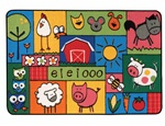 Old MacDonald Farm Rug - Rectangle - 4' x 6' - CFK4839 - Carpets for Kids