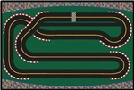 Super Speedway Racetrack Value Rug - Rectangle - 4' x 6' - CFK4845 - Carpets for Kids