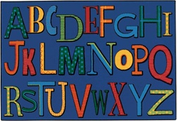 Playful Alphabet Rug - Rectangle - 4' x 6' - CFK4847 - Carpets for Kids