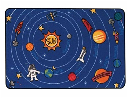 Spaced Out Rug - Rectangle - 4' x 6' - CFK4854 - Carpets for Kids
