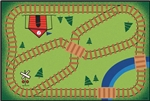 Railroad Playtime Value Rug - Rectangle - 4' x 6' - CFK4855 - Carpets for Kids