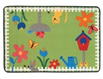 Garden Time Rug - Rectangle - 4' x 6' - CFK4867 - Carpets for Kids