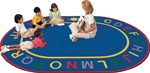 "Alpha Rug - Oval - 8'3"" x 11'8"" - CFK4916 - Carpets for Kids"