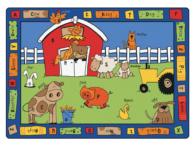 Alphabet Farm Rug Cfk52xx Carpets For Kids