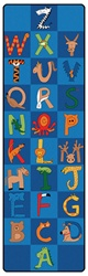 A to Z Animals Runners - Horizontal - 3' x 10' - CFK551 - Carpets for Kids