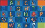 A to Z Animals Rug - CFK55XX - Carpets for Kids