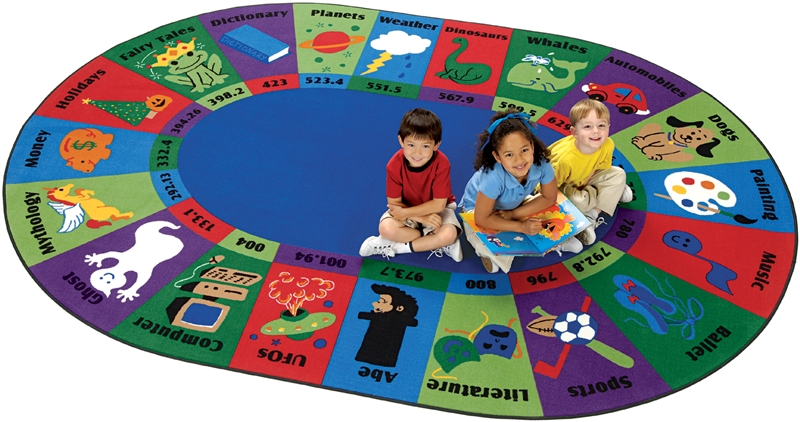 Dewey Decimal Fun Rug Cfk57xx Carpets For Kids