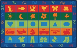 "Symbol Sets Seating Rug - Rectangle - 7'6"" x 12' - CFK5812 - Carpets for Kids"