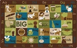 "Rhyme Time Rug - Nature - Rectangle - 7'6"" x 12' - CFK59762 - Carpets for Kids"