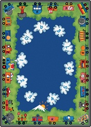 Choo-Choo Literacy Rug - Rectangle - 8'4
