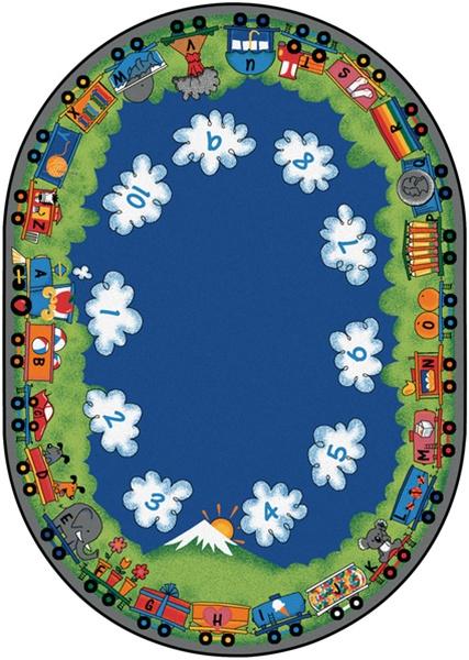 Choo Choo Literacy Rug Cfk60xx Carpets For Kids