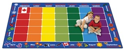 French Calendar Rug - CFK61XX - Carpets for Kids