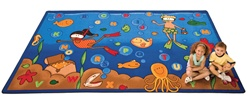 "Undersea Alphabet Adventure Rug - Rectangle - 5'10"" x 8'4"" - CFK6300 - Carpets for Kids"