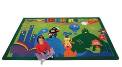 "A World of Imagination Rug - Rectangle - 5'5"" x 7'8"" - CFK6415 - Carpets for Kids"
