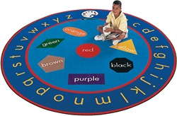 Paint-A-Round Rug - Round - 9' - CFK6909 - Carpets for Kids