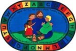 "Jesus Loves the Little Children Rug - Oval - 6'9"" x 9'5"" - CFK72006 - Carpets for Kids"