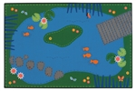 Tranquil Pond Rug - Rectangle - 6' x 9' - CFK7206 - Carpets for Kids
