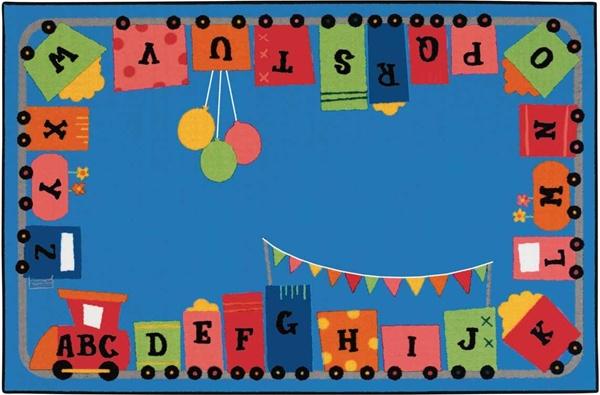 Alphabet Fun Train Rug Rectangle 6 X 9 Cfk7280