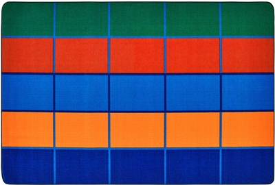 Color Blocks Value Seating Rug - Rectangle - 6' x 9' - CFK7291 - Carpets for Kids