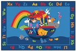Noah's Alphabet Animals Rug - Rectangle - 6' x 9' - CFK7296 - Carpets for Kids