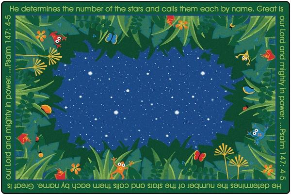 He Numbers The Stars Rug Rectangle 6 X 9 Cfk76516