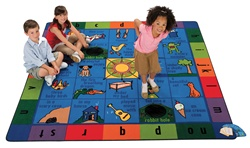"Hop-A-Story Rug - Square - 7'6"" x 7'6"" - CFK7676 - Carpets for Kids"