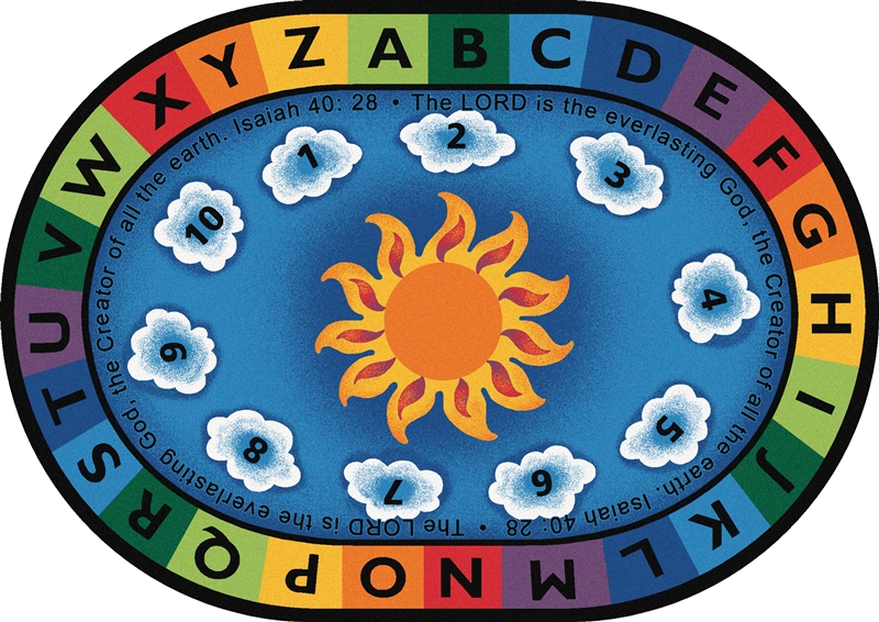 Isaiah 40 28 Circletime Rug Cfk794xx Carpets For Kids