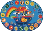 Noah's Voyage Circletime Rug - Oval - 6' x 9' - CFK80006 - Carpets for Kids
